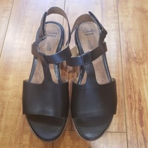 Clarks  Platform  Sandals